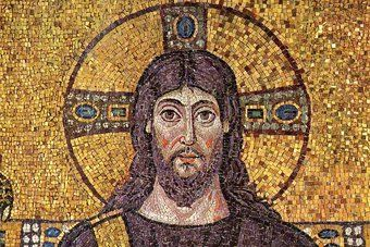 A painting of Jesus in the Early Church Times.