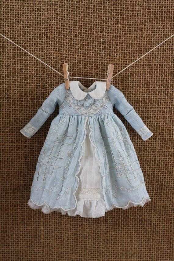 OOAK Vintage Hankie Dress for Blythe by pommepomme on Etsy