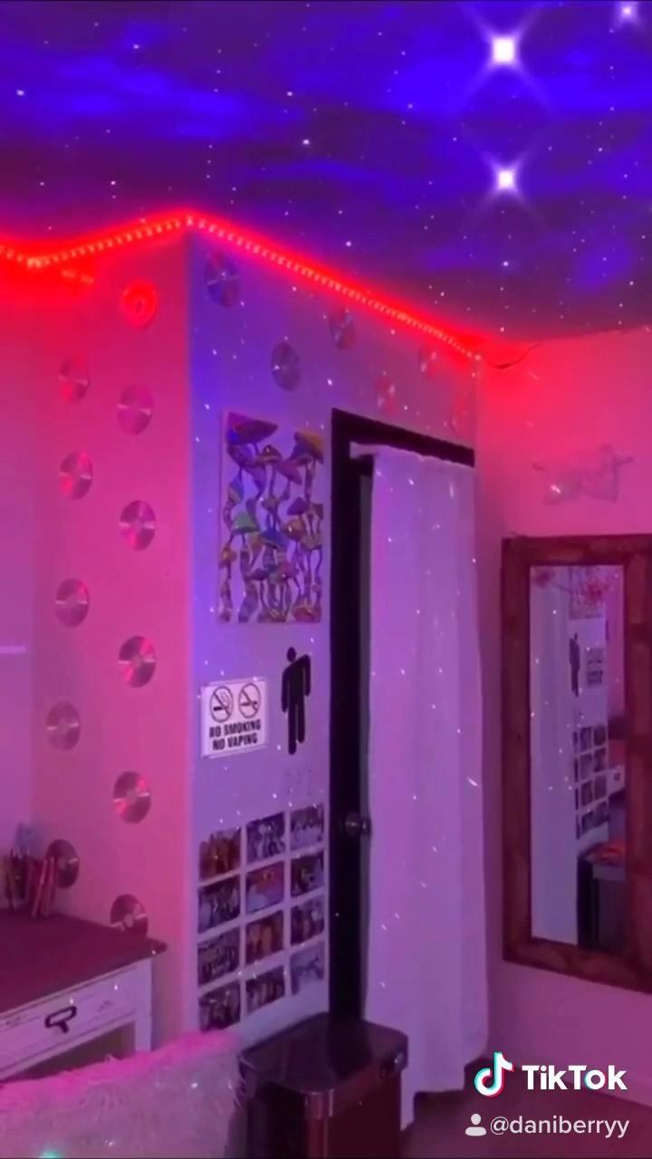 Room Follow Tiktok Daniberryy Room Aesthetic Tiktok Bedroom Makeover Neon Room Indie Room