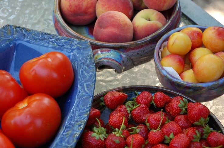 Fresh fruit ... I've eaten a lot of peaches so far!