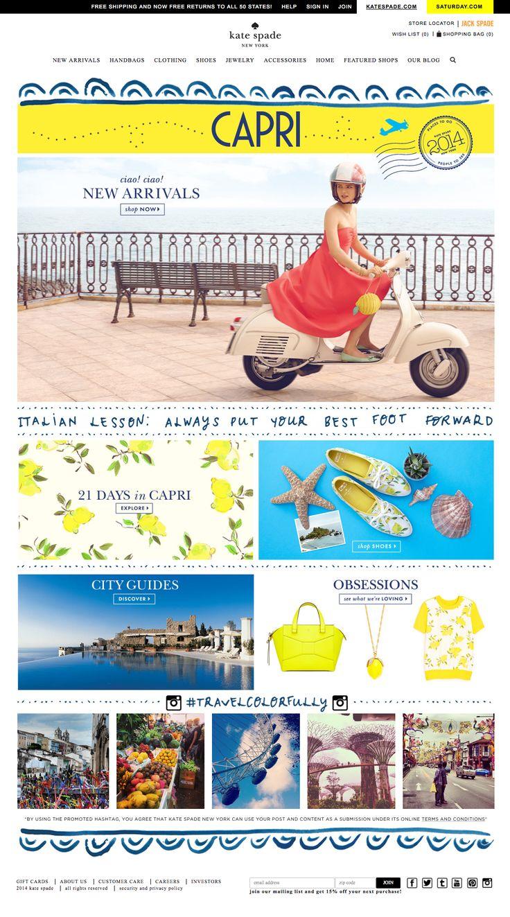 Kate Spade #webdesign #fresh #ecommerce #shop #girly