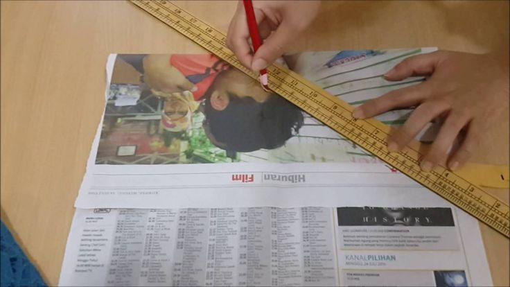 Belajar cara membuat pola baju dan pola jahitan blus VIDEO 3 Menggunting Pola Lengan - YouTube