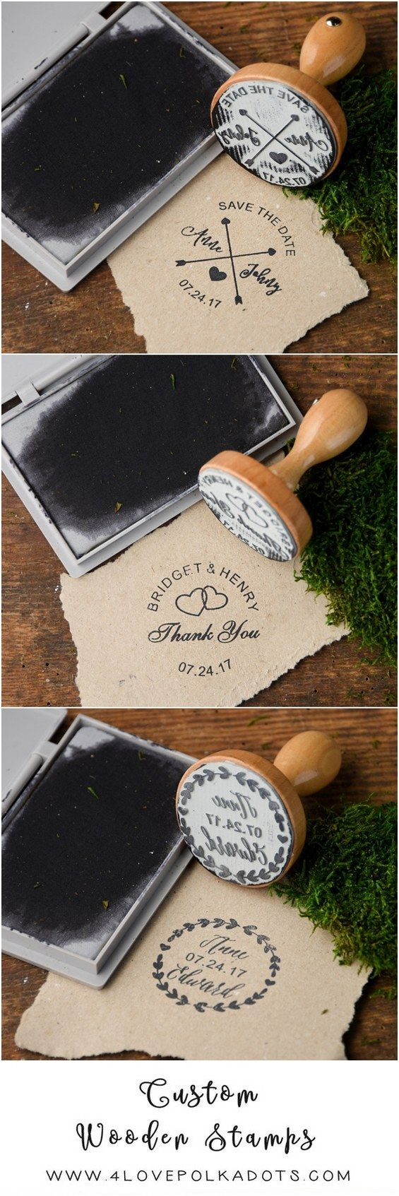 Rustic country wooden wedding stamps #rusticwedding #countrywedding