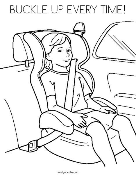 BUCKLE UP EVERY TIME Coloring Page - Twisty Noodle