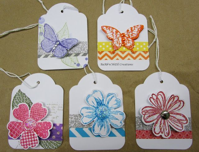 BaRb'n'ShEllcreations - Stampin' Up Gift Tags - made by Shell
