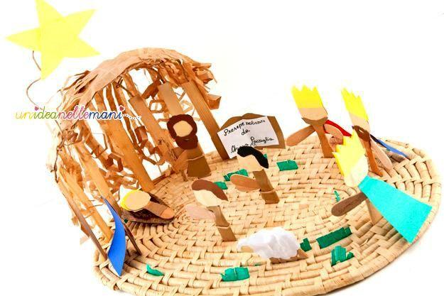 Presepe per bambini presepe fai da te presepe con for Piccoli piani di casa con costi da costruire