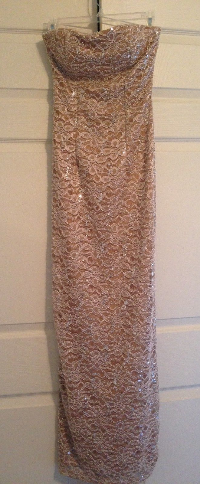 Formal Dress - Neutral - Beige - Full length - Strapless