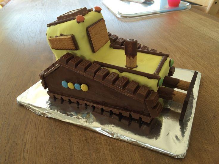24 Kuchen bagger kindergeburtstag