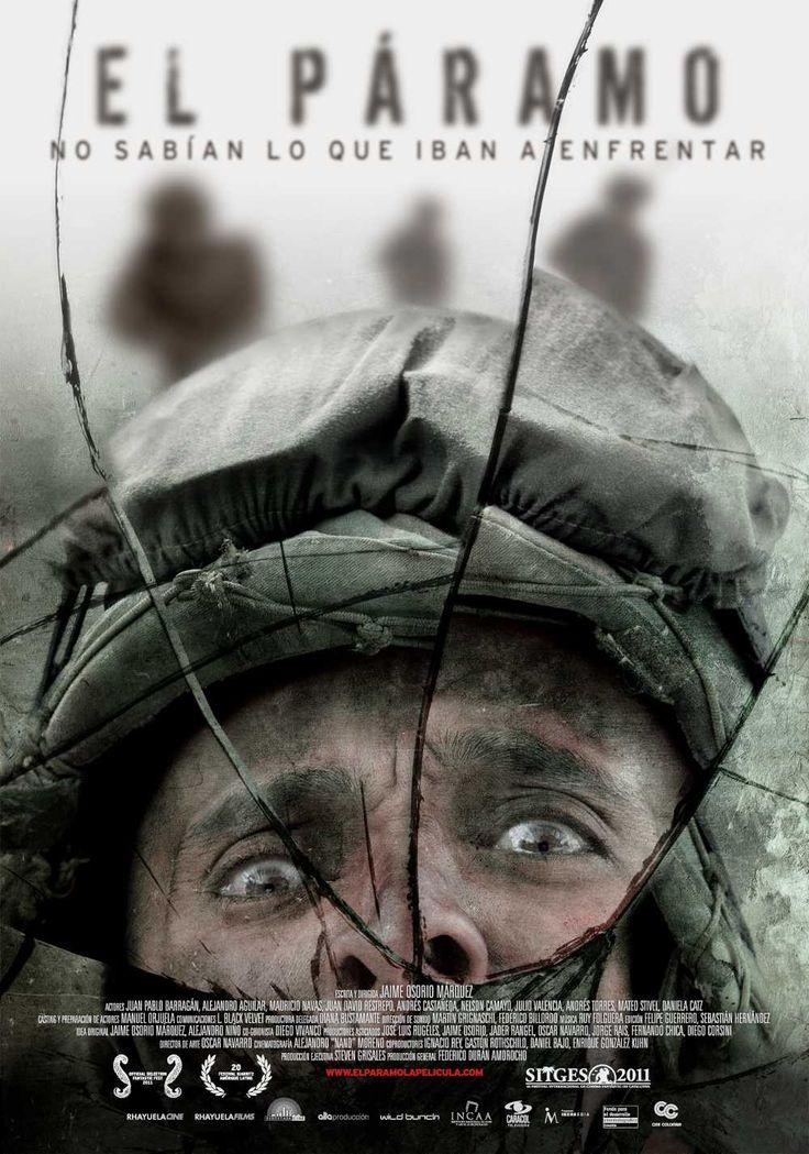 Afiche película El Páramo, un diseño Mottif en asocio con Laboratorios Black Velvet
