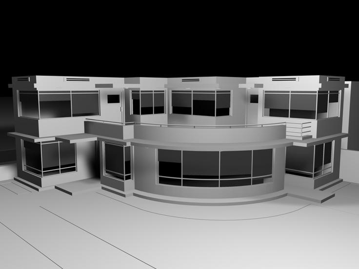 3D house sketch