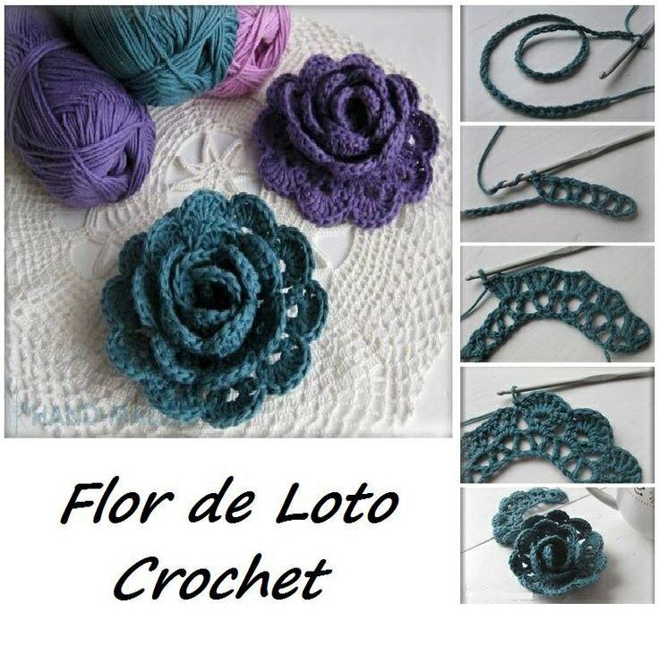 4918 best Fiori2 images on Pinterest | Crocheted flowers, Crochet ...