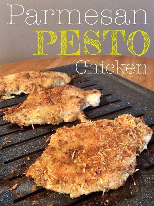 Easy and delicious Parmesan Pesto Chicken!