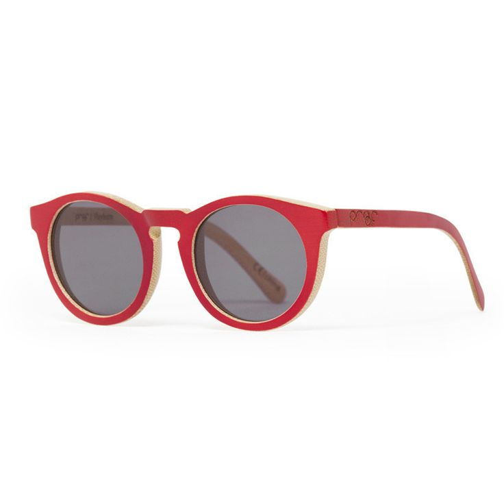 Proof 'Hayburn' Red Bamboo wooden sunglasses. Made from 100% real bamboo. The lightest sunglasses you've ever worn!