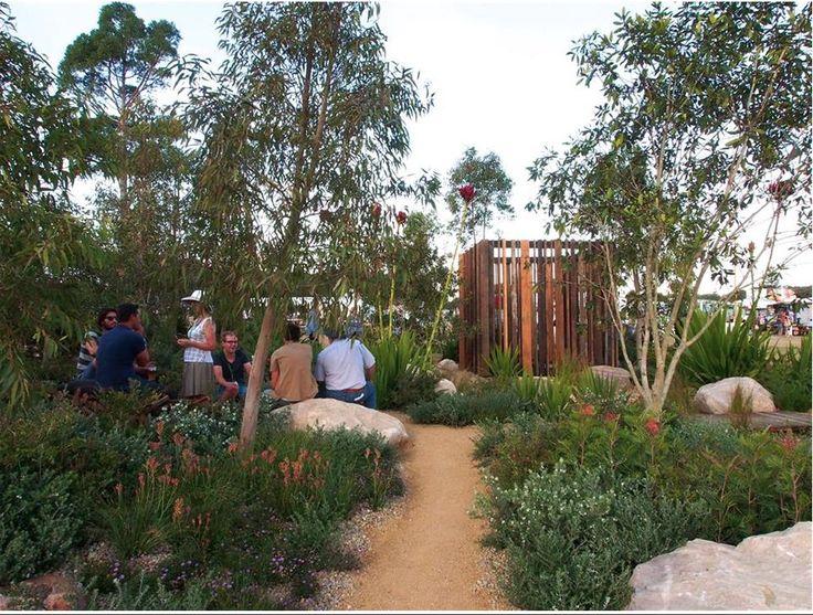 Lovely pathways through native garden beds!