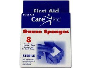 8 pack 2x2 inch gauze sponges - Pack of 24 by Bulk Buys. $30.96. Great Gift Idea.. Height: 8. Dimensions:. Width: 8. Length: 8. 8 pack 2x2 inch gauze sponges. Dimensions:. Length: 8. Height: 8. Width: 8