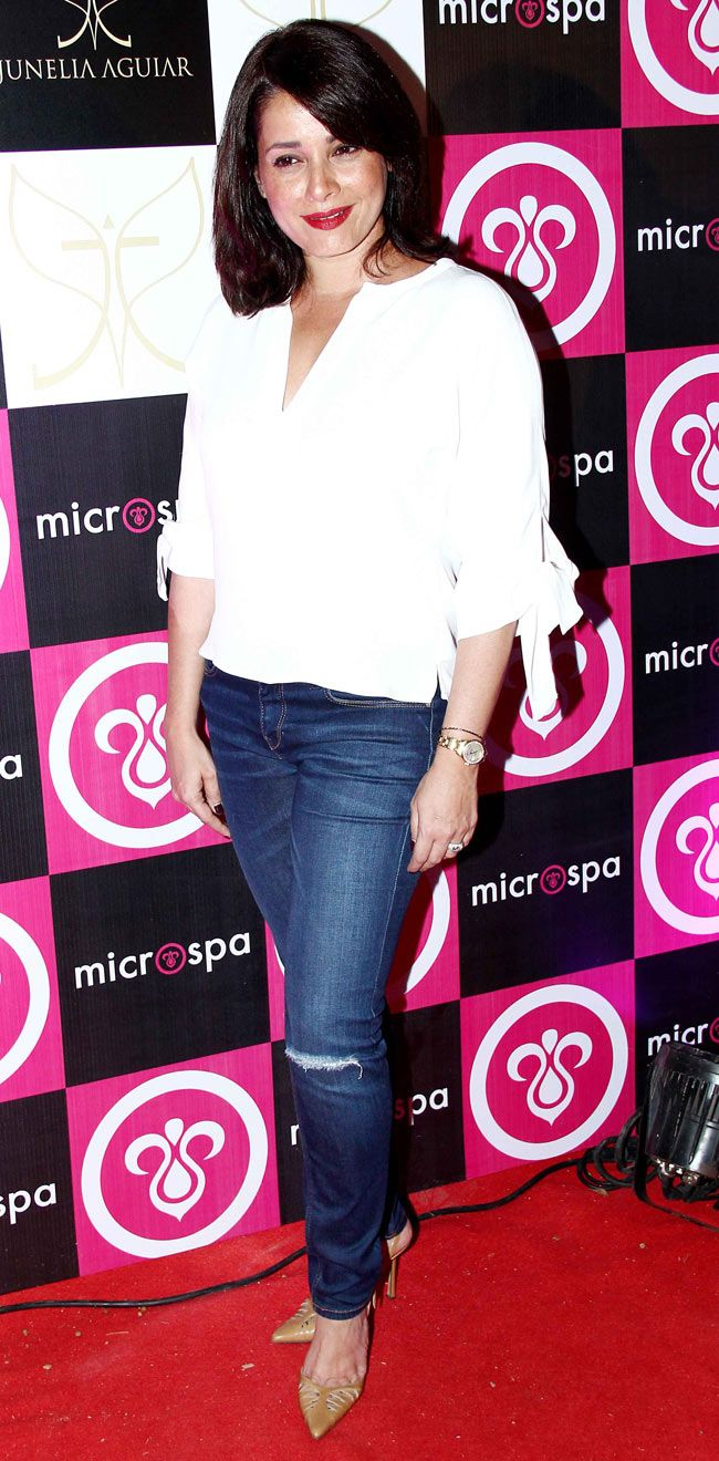 Neelam Kothari at the launch of Microspa. #Style #Bollywood #Fashion #Beauty #Page3