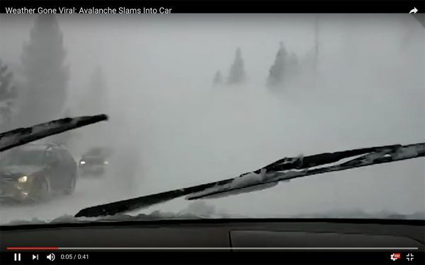 What It Looks Like When Avalanche Takes Out a Car