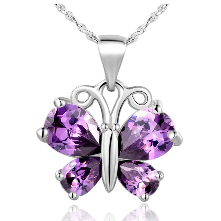 Find More Pendant Necklaces Information about Butterfly Necklace 2015 New Silver 925 White/Purple Fashion Jewelry Pendants Necklaces for Woman Accessories Gift Ulove N795,High Quality accessories diy,China accessories medical Suppliers, Cheap accessories rabbit from ULOVE Fashion Jewelry on Aliexpress.com