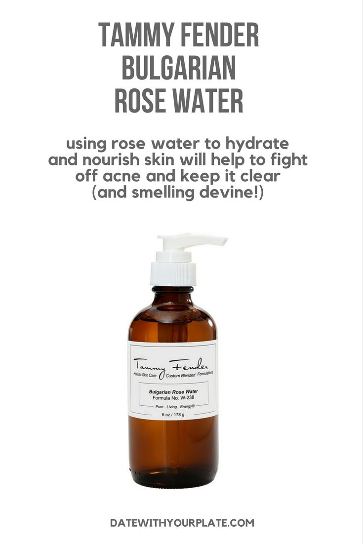 Rose water's lovely odour is reason enough to start slathering it on your face, but it will also help to hydrate and lightly moisturize your skin, which is actually really important for clearing your skin of acne. Rose water is also super nourishing, being rich in antioxidants1 and other nutrients essential for healthy clear skin, like vitamins A, D, E, B3 and C! Try Tammy Fender Bulgarian Rose Water for clear acne-free skin! #afflink