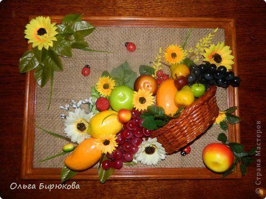 Картины с искусственными фруктами своими руками