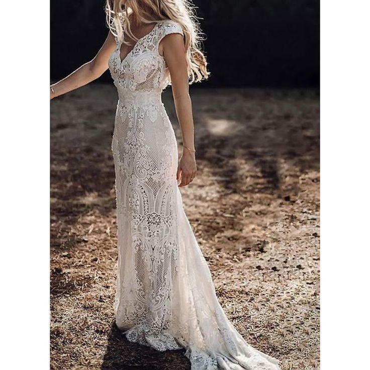Lace/Solid Cap Sleeve Sheath Maxi Party/Elegant Dresses