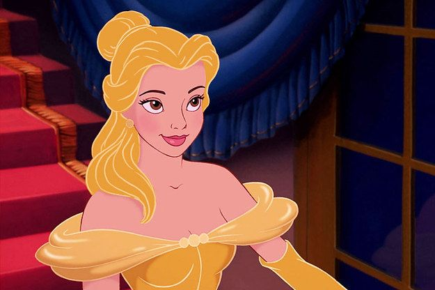 Belle | Disney Princesses With Hair Matching Their Outfits Is Kind Of Magical