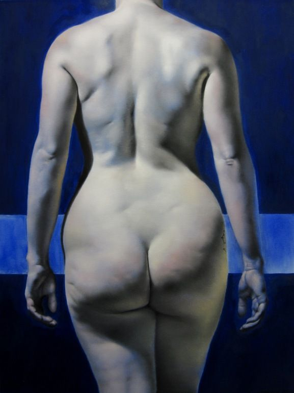 "Daniel Maidman; Oil 2011 Painting ""Blue Leah #6"" #real #woman"