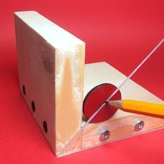 Use this handy homemade tool to accurately determine the centre of a square or circular work piece.