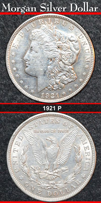 Morgan Silver Dollar For Sale $34.50.  Visit the website for more information about this beautiful American coin.  http://morgansilverdollarsforsale.com/morgan-silver-dollars/z-1921-p_morgan_silver_dollar_for_sale.cfm