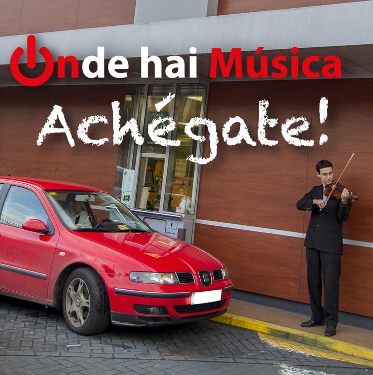 A música está en todas partes ;)  ondehaimusica.galiciasustentable.org  www.facebook.com/ondehaimusica  Fotografía Xaime Cortizo. Violinista Franco Locardi.