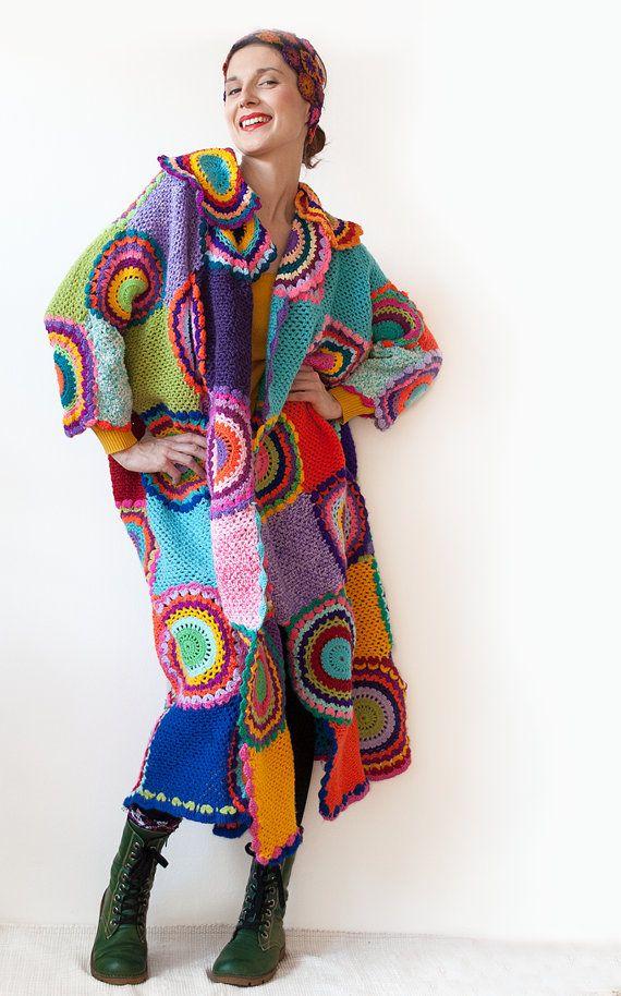 Alla moda plus size abbigliamento Extra lunga Plus size cappotto cardigan con cerchi Crochet