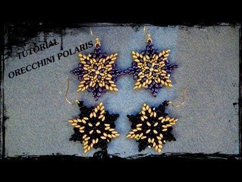 """Tutorial Perline: Orecchini """"Cristallo"""" realizzati con superduo, swarovski e rocaille - YouTube"""