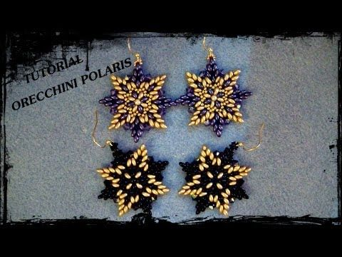 "* Tutorial Perline: Orecchini ""Polaris"", realizzati con twin beads e rocaille - YouTube"
