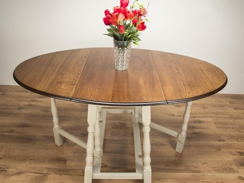 Country Oak Gate Leg Dining Table F Old White Upcycled FurnitureFurniture IdeasPlayroomDining