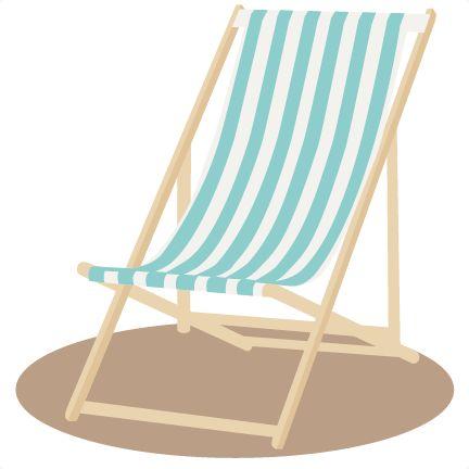 Beach chair clip art  Etsy