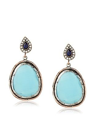 62% OFF Grand Bazaar Turquoise Cat Eye's Earrings
