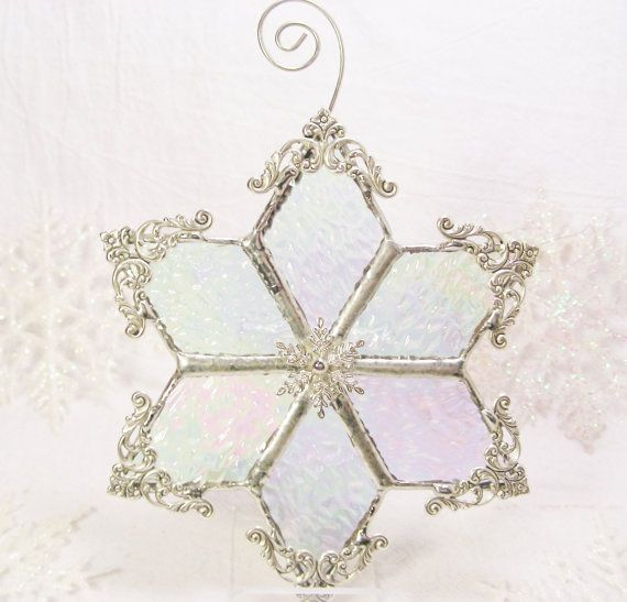 NEW Iridescent Snowflake by MoreThanColors on Etsy, $28.50: Wide Etsy, Glasses Christmas, Fused Glasses, Beautiful Glasses, Morethancolor Etsy Com, Etsy Seller, 28 50, Etsy Friends, Iridescent Snowflakes