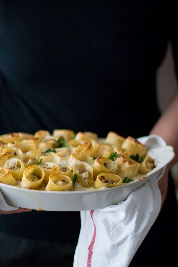 PACCHERI AL FORNO CON FUNGHI E RICOTTA (baked mushroom and ricotta paccheri) [Italy] [smilebeautyandmore]