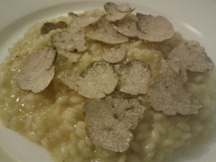 Risotto with white truffle.