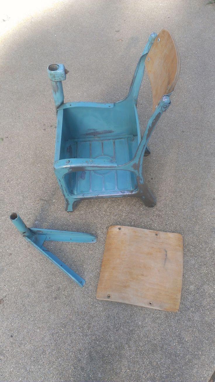 My Old Kentucky HomeSchool: Refurbished Old School Desks