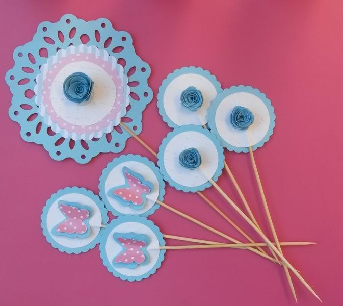 CUPCAKE TOPPERS PRIMAVERA di PiccolePolpetteCrescono su DaWanda.com