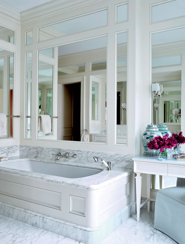 Photos Of These beautiful white bathrooms are filled with great ideas for devising a minimal space with big