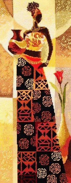African Woman @ www.123stitch.com
