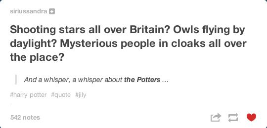 Some posts were just a whisper, a sign of what was to come. | Community Post: Tumblr Remembers Lily And James Potter, 32 Years On