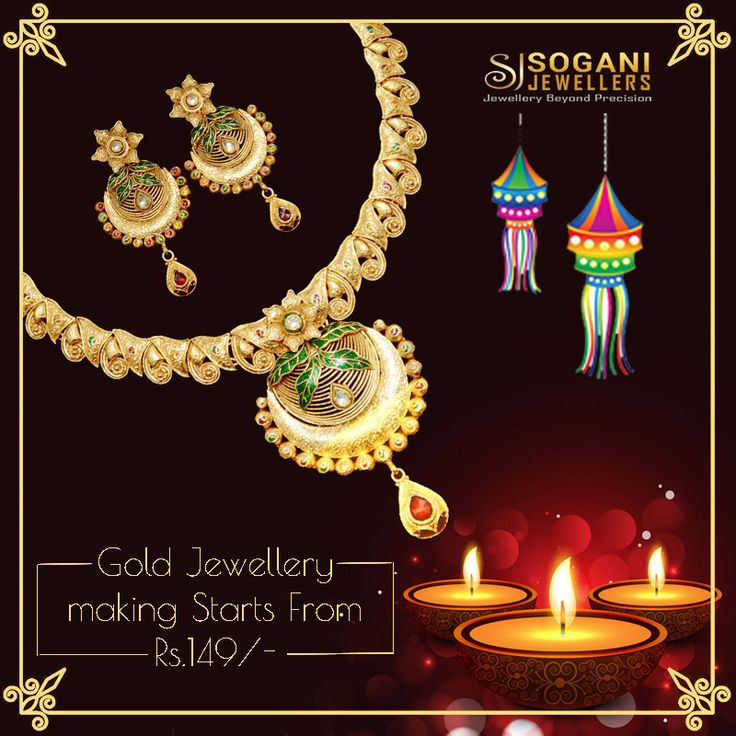 On The Auspicious Occasion Of Dhanteras Bring Home Gold Luck...!!!! #Sogani_Jewellers_Diwali_Bumper_Offer....!!!!!!! #Gold #Jewellery making starting from Rs.149/- only. 50% Off on making of #Diamond #Jewellery. 20% Off on #Diamonds. #Assured #Gift on #Every #Shopping. #Visit Our #Store #Sogani #Jewellers  C-19, Vaishali Marg, Vaishali Nagar Jaipur. Call- +919799809156, 0141-4024656. #Shop #Online www.soganijewellers4u.com