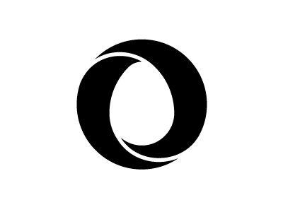 egg logos: mobius nest egg by Jan Zabransky; the simple, one-color version for original logo w/ gradients   dribble.com