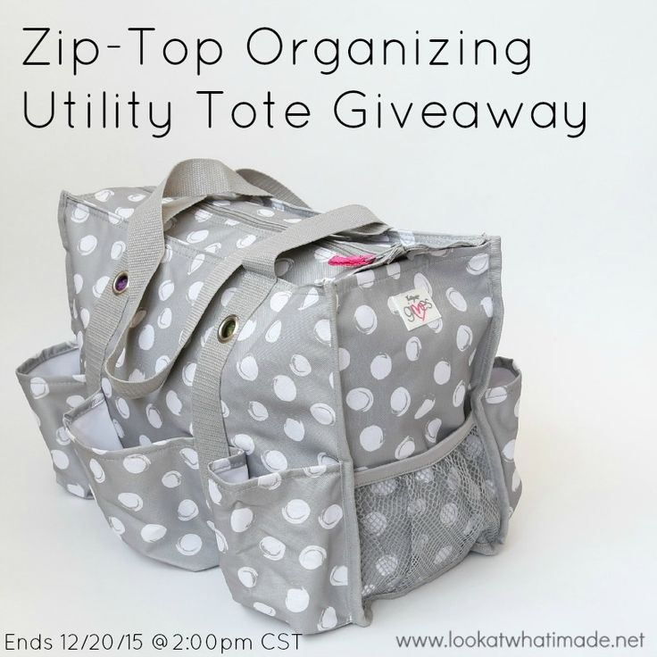 This giveaway is for a fabulous Organizing Utility Tote by Thirty-One. I use mine to cart my crochet projects around. What would YOU use it for?