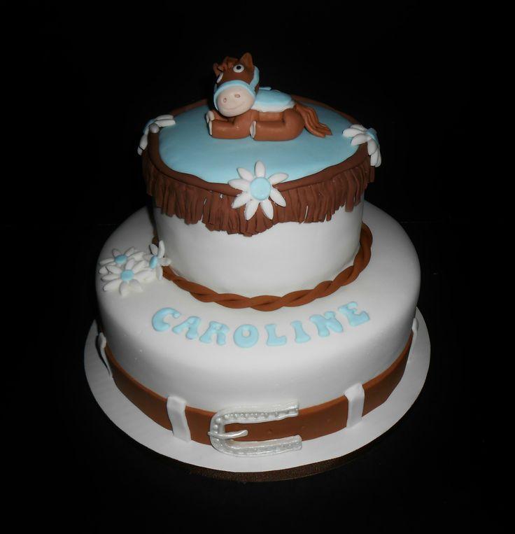 COWGIRL/HORSE CAKE