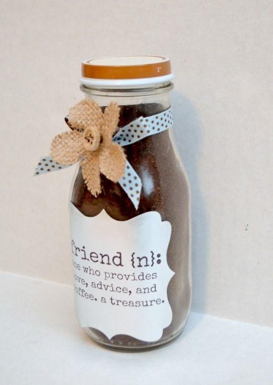 for coffee lovers nice gift!! Coffee Gift Jar