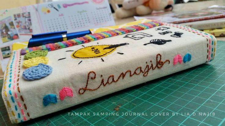 Journal cover part side..